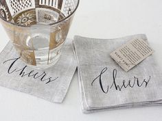 linen + ink = celebrate in style {would be a great hostess gift}