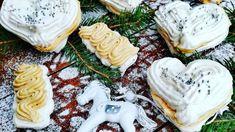 Snehové dobrôtky s karamelovým krémom Camembert Cheese, Waffles, Sugar, Cookies, Breakfast, Desserts, Food, Crack Crackers, Morning Coffee