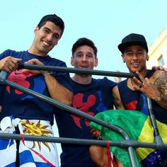 Suarez, Messi and Neymar