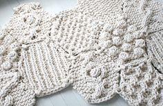 Hexagonal knitting patterns by Christine Meinerstma
