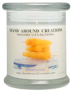 Premium 100 Soy Candle  12 oz Status Jar Dreamsicle Vibrant orange citrus and heartwarming vanilla blended together ** You can get more details by clicking on the image.