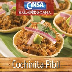 #Cinsa #CinsaALaMexicana #Recetas #Mexicanas #RecetasMexicanas #México #Comida #ComidaMexicana #peltre #MarcasMexicanas #CochinitaPibil #Yucatan