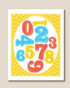 Numbers nursery Art!