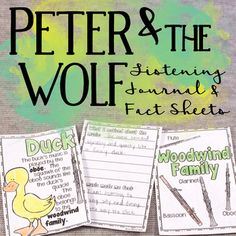 Peter and the Wolf Listening Journal & Fact Sheets by Cori Bloom | Teachers Pay Teachers
