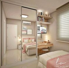 Trendy bedroom ideas for small rooms closet Room Ideas Bedroom, Girl Bedroom Designs, Small Room Bedroom, Closet Bedroom, Trendy Bedroom, Bedroom Furniture, Bedroom Girls, Bedroom Ideas For Small Rooms For Girls, Closet Space