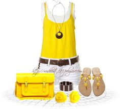"""""""Yellow"""" by wishlist123 ❤ liked on Polyvore"""