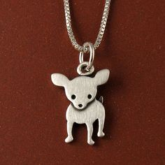 Chihuahua necklace. $30.00, via Etsy.