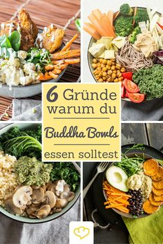 6 Gründe, warum du Buddha Bowls kennenlernen solltest Buddha bowls are the new food trend! Healthy Eating Recipes, Clean Eating Snacks, Healthy Cooking, Bol Buddha, Buddha Bowl, New Food Trends, Meal Prep Bowls, Food Inspiration, Love Food
