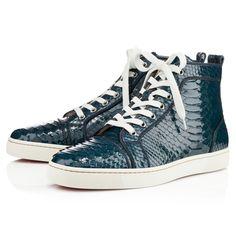 Christian Louboutin python skin sneakers