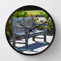 An Empty Bench Wall Clock by Lanjee  http://society6.com/product/an-empty-bench-4ov_wall-clock