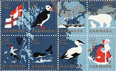 Items similar to Vintage stamp sheet with boats, nordic seals 1959 papeterie de Paris on Etsy