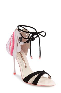 Sophia Webster 'Flamingo Frill' Lace-Up Sandal (Women)