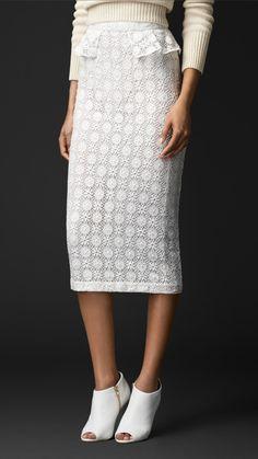 English Geometric Lace Skirt | Burberry