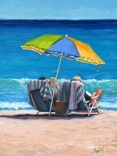 Just Leave A Message Iv ~Laura Lee Zanghetti beach painting! Umbrella Painting, Umbrella Art, Sand Painting, Beach Artwork, Beach Scenes, Seascape Paintings, Ocean Art, Oeuvre D'art, Watercolor Art