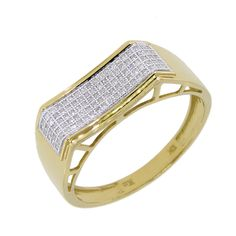 10k Gold 1/4ct TDW Diamond Men's Ring