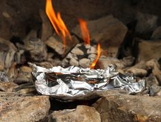 healthy campfire cookery with foil bundles