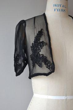 Jula silk bolero vintage 1930s jacket silk chiffon by DearGolden