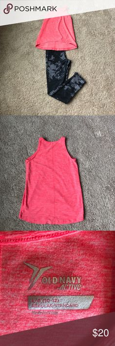Old Navy Active Tank & Leggings Old Navy Active pink tank & legging size 10/12 Old Navy Matching Sets
