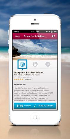 Hotel iOS App on App Design Served