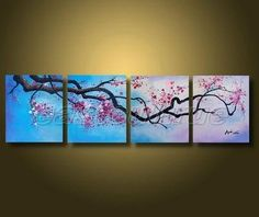 Best Cherry Blossom Canvas Art Products on Wanelo | Painting Ideas ...