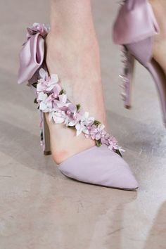 Flower trim on strap, heels, & fabric bow for Evening Shoes by Georges Hobeika Pretty Shoes, Beautiful Shoes, Beautiful Life, Zapatos Shoes, Shoes Heels, Strap Heels, Bridal Shoes, Wedding Shoes, Georges Hobeika