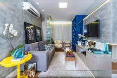 Apartamento de 50 metros quadrados projetado por Andrea de Paula e Gabriela Nóbrega do escritório de arquitetura De Paula e Nóbrega.
