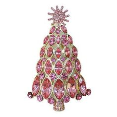 Pink Christmas tree brooch    Pinned on behalf of Pink Pad, the women's health mobile app with the built-in community