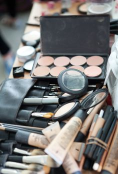 Lots of make-up goodies! Ted Baker AW13 backstage