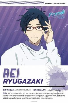 Take Your Marks Rei Ryūgazaki Rei Free, Free Characters, Splash Free, Free Eternal Summer, Makoharu, Free Iwatobi Swim Club, Kyoto Animation, Free Anime, Shounen Ai
