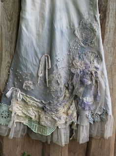 RRSERVED- Barocco skirt - -romantic maxi skirt L size shabby chic linen blend hand dyed embroidered details Shabby Chic Outfits, Boho Outfits, Vintage Outfits, Shabby Chic Clothing, Shabby Chic Dress, Boho Clothing, Modest Clothing, Modest Outfits, Looks Vintage