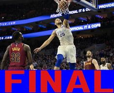 Final from #Philly : #Sixers win! Its 13 in a row for the #76ers and they defeated #LeBron and the #Cavs 132-130! Another #Simmons triple double helped beat out LeBrons 44 point triple double! The Sixers will face the #Mavericks tomorrow at 1 to lock up the 3 seed and face the #Wizards in the playoffs! Go Sixers! #dallas #cleveland #philadelphia #dc  #nba #basketball #hoops #fun #games #sports #ballers #embiid #simmons #fultz #trusttheprocess #bbb