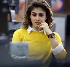 Short hair girl photography black most popular ideas South Indian Actress, Beautiful Indian Actress, Beautiful Actresses, Cute Celebrities, Celebs, Nayanthara Hairstyle, Girl Fashion, Fashion Outfits, Ethnic Wear Designer