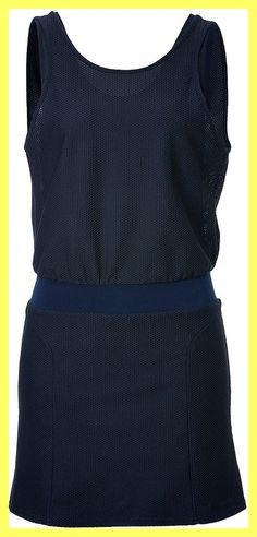 Theory Navy Blue Flap Barre Stretch Mesh Dress.