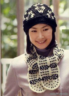 Красивое вязание | Шапочка и шарфик крючком