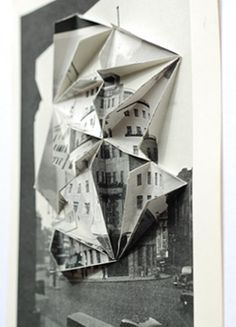 Make it pop - take a copy (or two), fold it origami style and place on top Photomontage, Collages, Libros Pop-up, A Level Art, Gcse Art, Environmental Art, Architecture Art, Art Photography, Photography Sketchbook