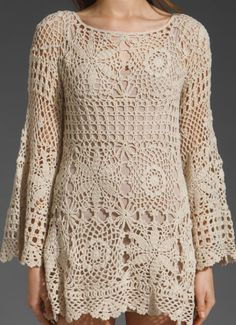 Selena Gomez - Hit Crochet / tunika- inspiracja