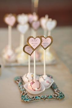 Pink and Gold Cake Pops Pink und Gold Cake Pops Wedding Desserts, Wedding Favors, Party Favors, Wedding Cakes, Favours, Wedding Table, Mini Cakes, Cupcake Cakes, Pink Und Gold