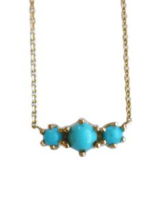 Mociun Turquoise Ball Necklace