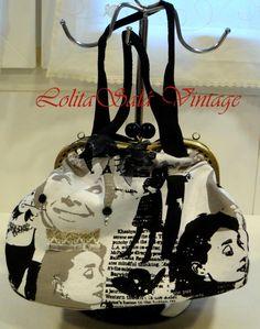 """Maletín vintage """"Print Audrey"""", Bolsos y carteras, Bolsos, Bolsos y carteras, Maletines"""