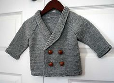 Free : Henry's Sweater pattern by Sara Elizabeth Kellner Baby Knitting Patterns, Baby Cardigan Knitting Pattern, Knitting For Kids, Baby Patterns, Crochet Pattern, Free Pattern, Free Knitting, Knit Baby Sweaters, Knitted Baby Clothes