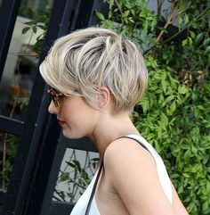 color ideas for short pixie cut: This red pixie cut is perfect for showing off beautifully coloured hair and a stunning sense of fashion. The strong lines of geometric cuts make great pixie haircuts for round faces. In this easy short hairstyle, Related Postssuper short pixie cut trends 2017pixie cut hair style for 2016short layered … … Continue reading →