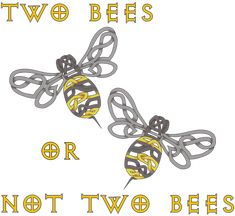 Two Bees by KnotYourWorld.deviantart.com