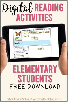 Looking for digital reading activities that your students can use in Google classroom? In a time of distance learning, these no prep Google slides reading activities are created with differentiation in mind for kindergarten, 1st grade, and for 2nd grade students. Reading ideas include sentence building activities and free sequence reading passages. #googleclassroomreadingideas #digitalreadingactivities #distancelearningreadingactivities Reading Intervention Activities, Reading Comprehension Strategies, Reading Passages, Teaching Reading, Kindergarten Reading Activities, Teaching Spanish, Literacy, Phonics Activities, Learning Phonics