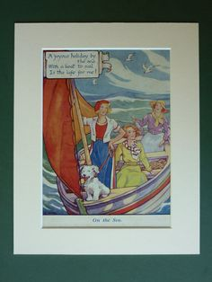 Original 1930s Nautical Print  Sea Holiday  Sun  by PrimrosePrints, £20.00