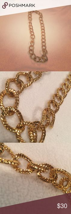 Gold Oval Chain Necklace Brand New   Never Used   Oval Chain Design   Gold Color   Fold Over Clasp   Trades   Feel Free to Ask Questions   More  Upon Request   Bundles & Offers are Welcomed ❤️  Ralph Lauren Jewelry Necklaces