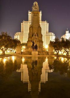 Den smukke Plaza de Espana, Madrid