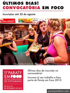 FALTAM SÓ 8 DIAS!!! Paraty em Foco Ainda não mandou seu trabalho para a Convocatória em Foco 2015??  >> Então corra e se inscreva já http://paratyemfoco.com/inscricao-convocatoria-em-foco-2015  #ParatyEmFoco #FestivalDeFotografia #fotografia #exposição #cultura #turismo #arte #VisiteParaty #TurismoParaty #Paraty #PousadaDoCareca