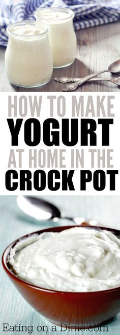 Making Yogurt at home is super easy when you are making crock pot yogurt. This Homemade yogurt recipe is super easy and anyone can make it with a crock pot. Crock pot yogurt will save you money and it tastes great!