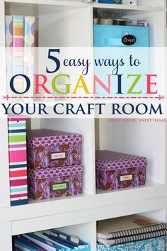 '5 Easy Craft Room Organization Tips...!' (via Neat House. Sweet Home™)