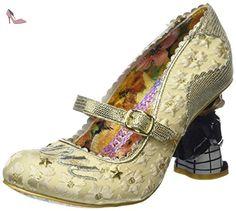 Irregular Choice I Love You, Escarpins femme - Multicolore (Off White/Gold), 40 EU - Chaussures irregular choice (*Partner-Link)